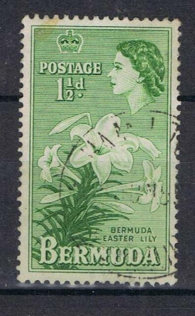 Bermuda 1953 1½d Green Easter Lily SG 137 Used