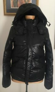 Rrp nera Down Giacca £ nera 495 Puffer All Bomber cappuccio Giacca Saints con Tvvg1dx