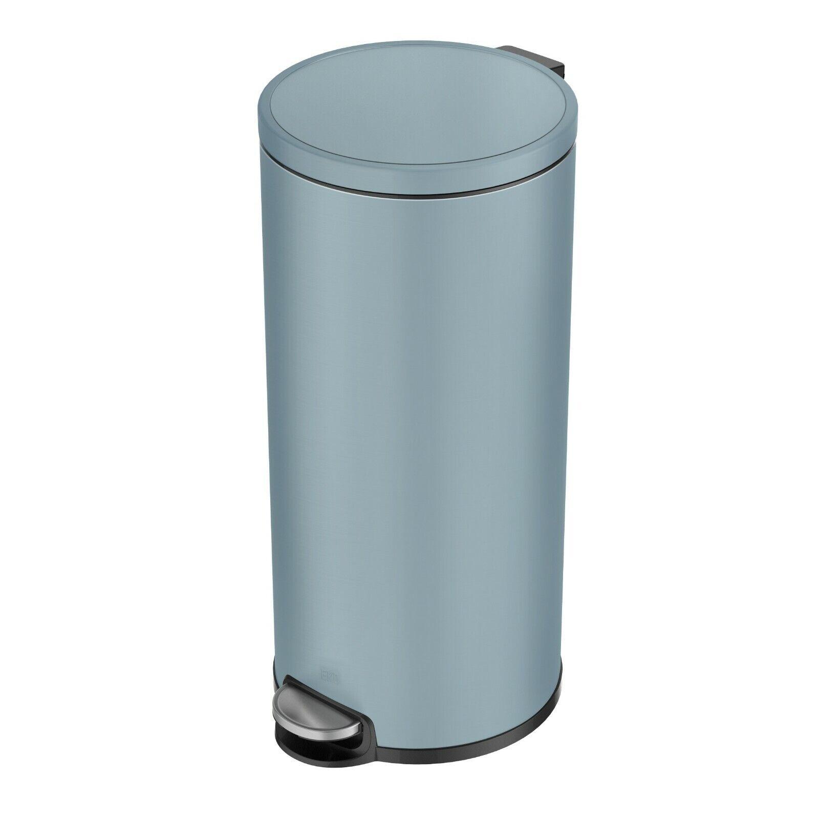 EKO EVA Blau KITCHEN PEDAL BIN 30L STAINLESS STEEL Removable Bucket Easy Clean