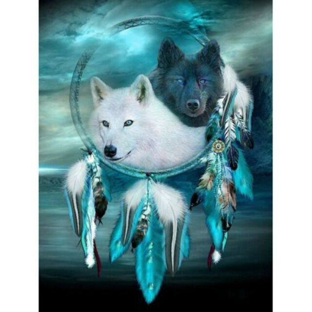 Wolf Dreamcatcher Full Drill 5D Diamond Painting Embroidery Cross DIY Stitch Kit