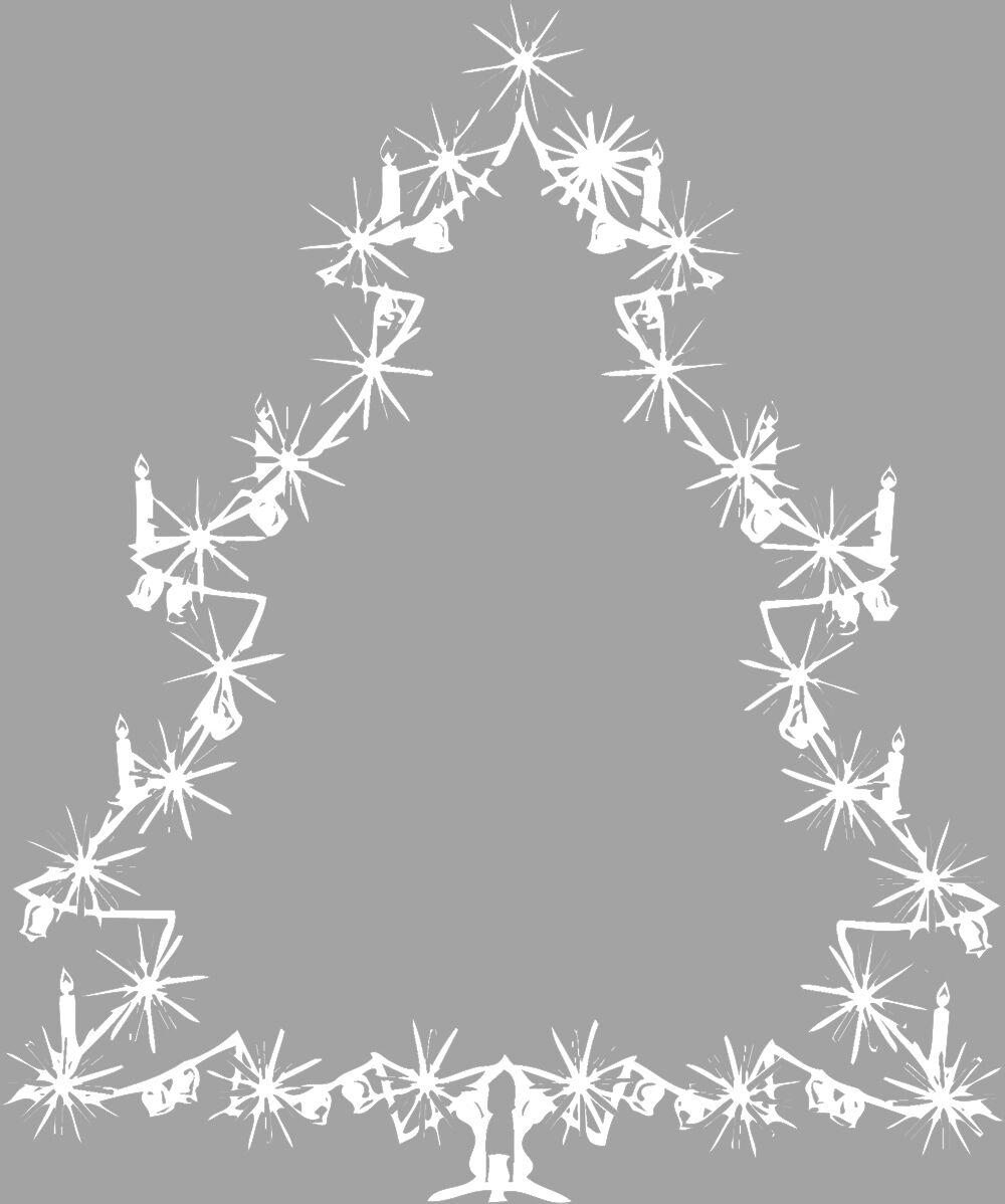 Applikation Aufkleber Winter Wand Dekor weiss Weihnachtsbaum 2 Groessen WD0810