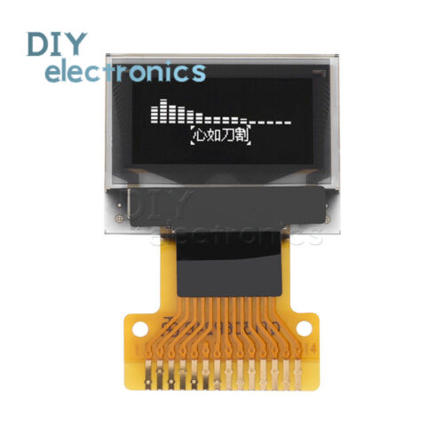 "SSD1306 Blanco 0.49/"" pantalla OLED módulo 64x32 limpio PANTALLA I2C IIC nos Arduino"