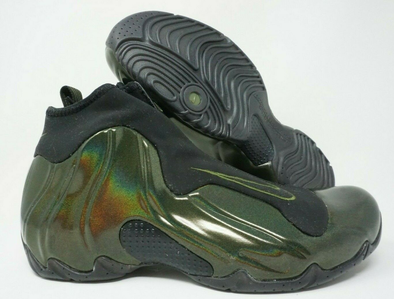 Nike Air Flightposite Mens Basketball shoes Legion Green Black Multi Size
