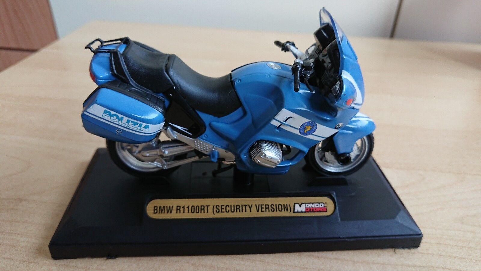 Bmw R1100RT Security Version POLIZIA STRADALE modellino 1/18 Diecast Metal Rara