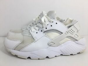 reputable site 2bde3 cd72a Details about Nike Huarache Run GS BG White Pure Platinum Youth Size 6.5Y  US 654275 110