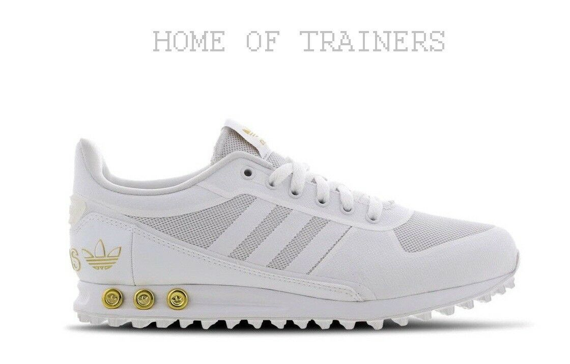 Adidas LA White Metallic gold Men's Trainers All Sizes