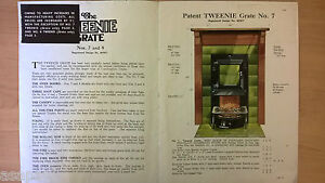 TRIPLEX-GRATES-FIREPLACE-PAPERBACK-BOOKLET-PAMPHLET-CATALOGUE-ILLUSTRATED