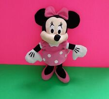 "Disney Minnie  Mouse Plush 11"" Girls Soft Animal Pink Dress Bow & Shoes Girls 3+"