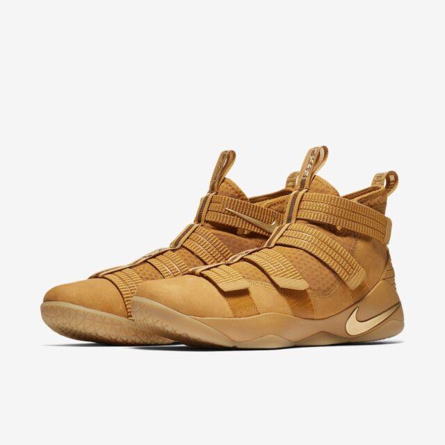 sale retailer 59b55 27d7c Mens Nike Lebron Solder XI SFG 897646-700 Wheat Gold Brand New Size 13