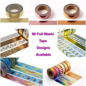 Gold-Silver-Pink-Foil-Washi-Tape-Pineapples-Arrows-Stars-Stripes-60-Designs