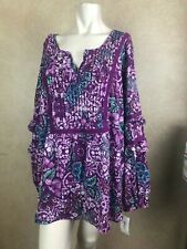Style and Co Organic Melody Top Purple Floral___ R24D4&R1A2