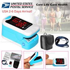 Finger Pulse Oximeter Blood Oxygen SpO2 PR Heart Rate Monitor Free Pouch&Lanyard