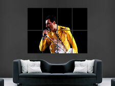 Freddy Mercury Poster Leyenda Música Rock Band Yellow Jacket arte Foto impresión