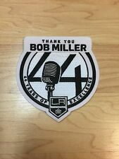 LA Kings Broadcaster Bob Miller HOF 44 Years Thank You Jersey Patch 4-8-17 RARE!