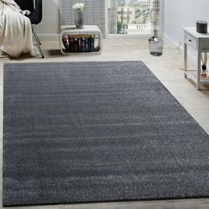 Image Is Loading Luxury Plain Grey Rug Glitter Anthracite Room Carpet
