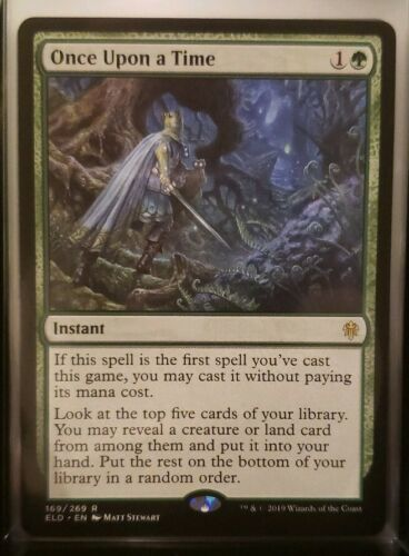 Once Upon  a Time Throne Of Eldraine ELD Magic MTG MINT CARD