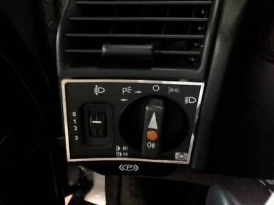 D Mercedes SL R129 Chrom Rahmen für Fach Mittelkonsole Edelstahl poliert