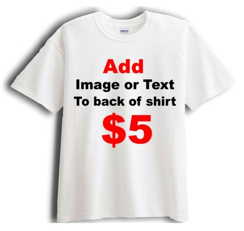 Add Image or Text to Back of Shirt