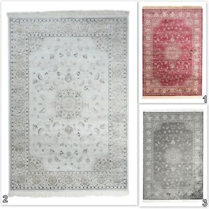 Traditional-TAPISO-Viscose-Red-Grey-Cream-Rug-Vintage-Faded-Luxury-Soft-Carpet