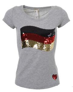 Das Bild wird geladen Key-Largo-Damen-T-Shirt-Oberteil-WM-GERMANY-
