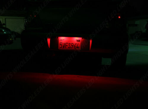 2 pc RED LED License Plate Light Bulbs Wedge Push Type