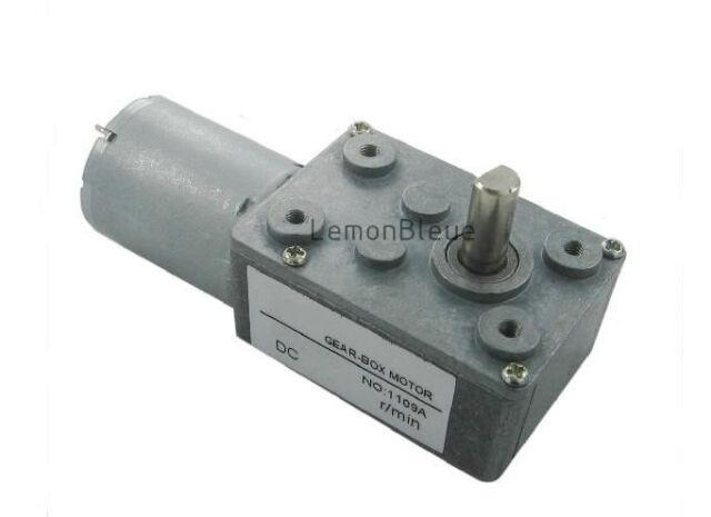 15kg.cm 12V 2RPM High Torque Turbo Worm Geared Gear Motor DC motor