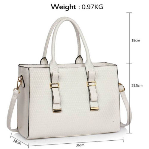 Women/'s Designer Handbag Faux Leather Ladies Large Stylish Tote Shoulder Bags
