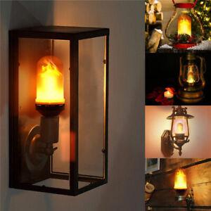 LED Licht E27 B22 Fackel Feuer Lampe Flammen Effekt Glühbirne Flacker Birne 6W