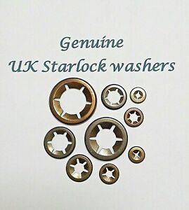 Starlock Washers For Shaft Retaining Push On Lock Grab Retaining Clips 2MM-10MM