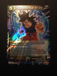 BT4-076 R M//NM Abrupt Breakthrough Son Goku 4x Foil Rare