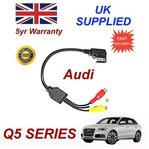 For AUDI Q5 4F0051510N Audio Video ANALOGUE Cable RCA PHONO 2012+ AMI MMI