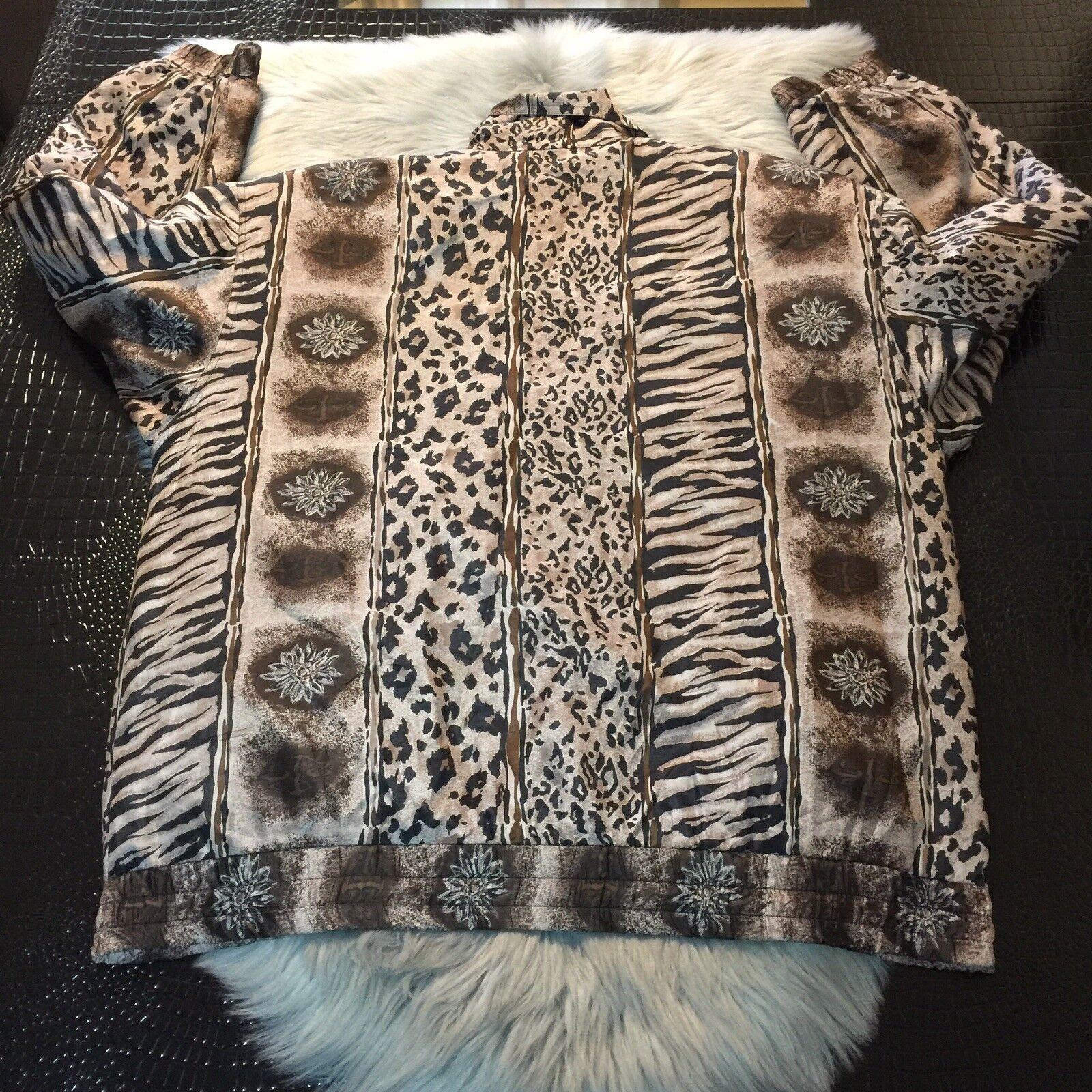 Women's Fuda International Zip Jacket ~ Sz L~ Ani… - image 5