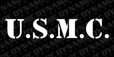U.S MARINE CORPS SET OF 2 PATRIOTIC VINYL DECALS