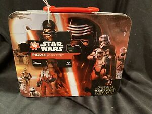 Disney Star Wars The Force Awakens 100 Piece Puzzle In Tin Lunch Box NEW