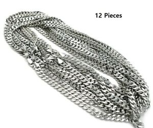 """8mm 12 Piece Concave Cuban link Chain 8/"""" 9/"""" 20/"""" 24/"""" 30/"""" 14k Gold Plated Necklace"""
