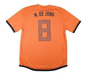 HOLLAND 2012-13 Authentic Home Shirt DE JONG #8 (eccellente) XL soccer jersey