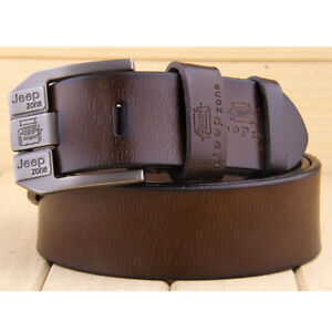 Men-039-s-Genuine-Cow-Leather-Waistband-Waist-Belt-Strap-Girdle-Smooth-Buckle-New