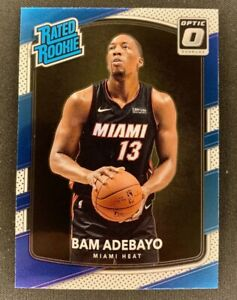 2017-18 Bam Adebayo Donruss Optic Rated Rookie RC #187 | Miami Heat NBA FINALS!