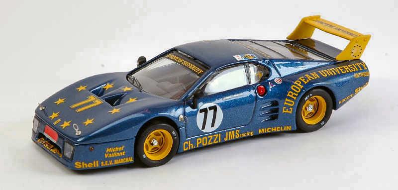 Ferrari 512 bb  77 dnf LM 1980 J.C. Andruet c. ballot Lena 1 43 Model