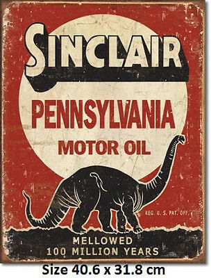 Sinclair Motor Oil Tin Sign 1741 Made in USA