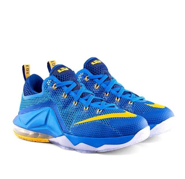 watch a6c9d 87609 Nike Lebron XII 12 Low ENTOURAGE Mens 724557-484 Blue Gold Shoes Size 10