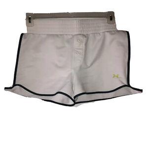 Under-Armour-Womens-Extra-Large-White-Elastic-Waist-Running-Athletic-Shorts-XL