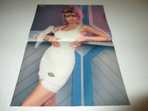 MANDY-SMITH-original-2-page-magazine-centerfold-pinup-rare-11x16-Peter-Maffay