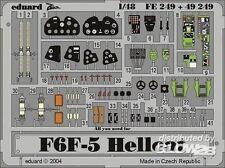 eduard F6F-5 Hellcat Parti di acquaforte Caustica 1:48 per Hasegawa Modello kit