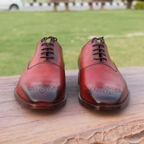 MEN MEN MEN HANDMADE LEATHER RED BROGUE FORMAL DRESS PURE QUALITY LEATHER SHOES 60e640