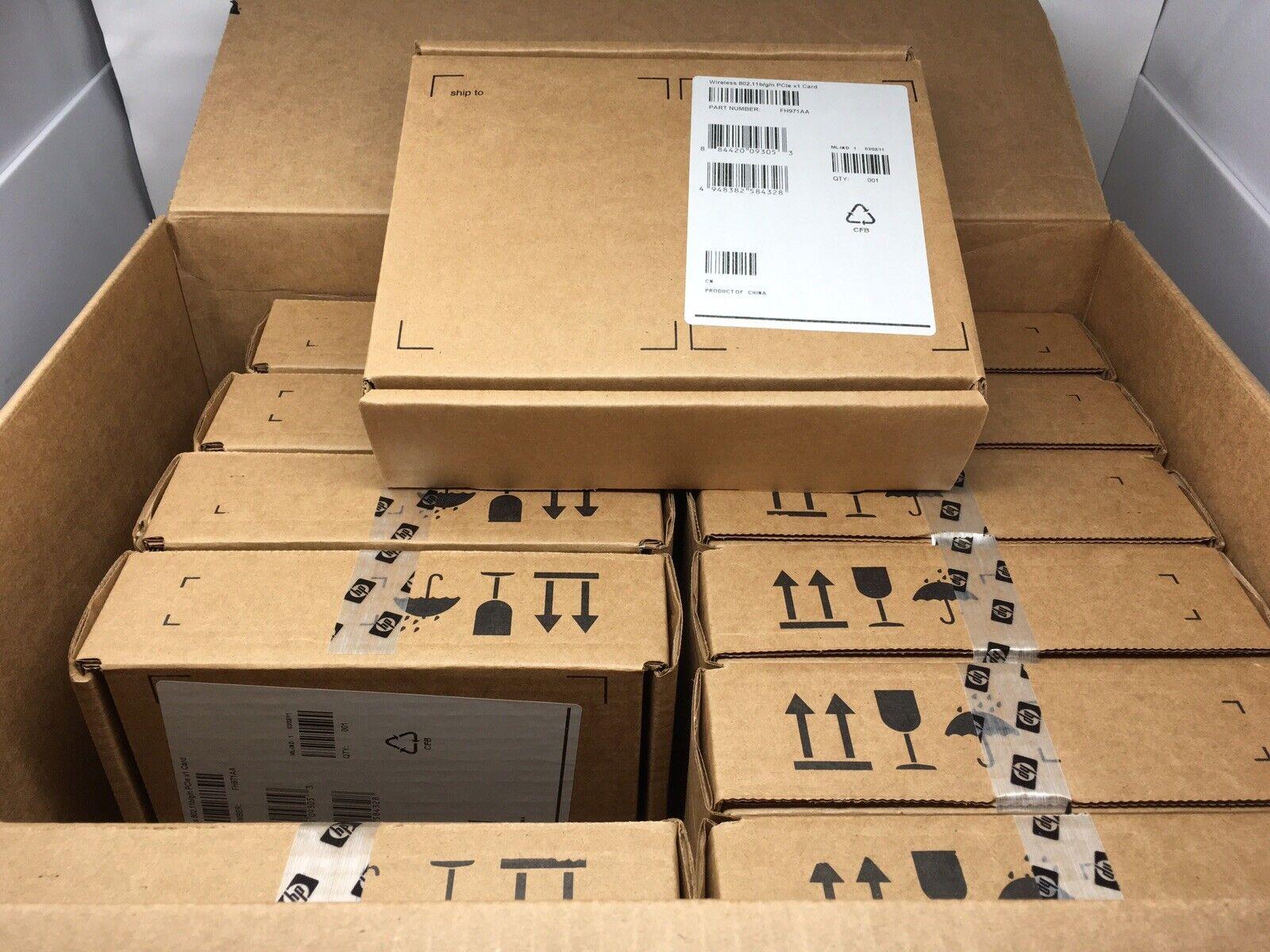 Lot of 12 NEW HP FH971AA Wireless 802.11 b/g/n PCIe x1 Card WPA2 Sealed