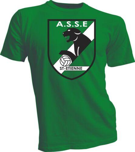 AS SAINT ETIENNE France Ligue 1 Soccer Football T-SHIRT ASSE handmade tee green