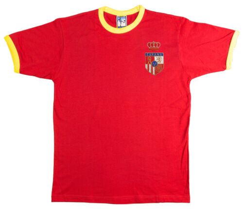 Spain 1970's Football T Shirt New Sizes S-XXL Embroidered Logo