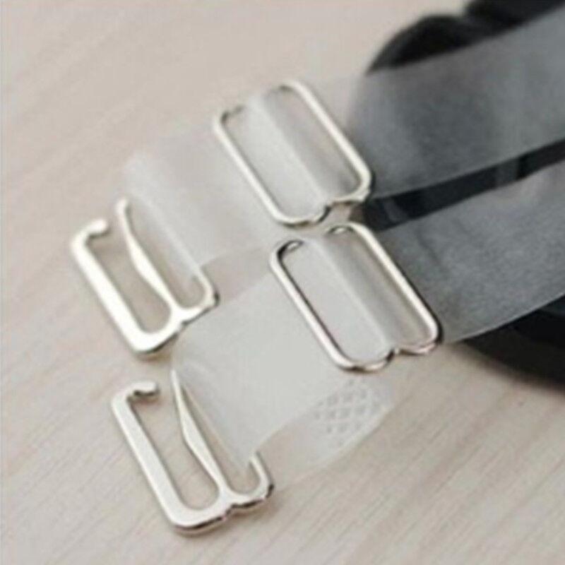 Adjustable Detachable Metal Hook Replacement Clear// SCRUB  Bra Straps 1 CM