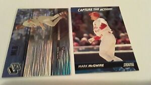 Mark McGwire 2000 Upper Deck HoloGrFX + 2000 Topps Stadium Capture the Action